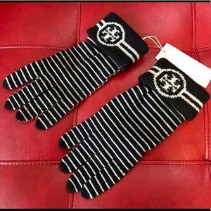 💕💕Tory Burch Striped Merino Wool Gloves